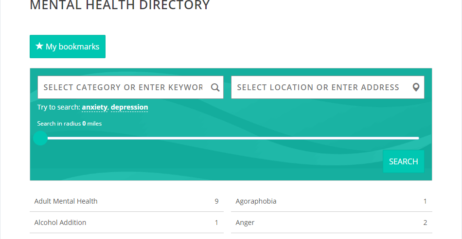 The Mental Health Directory Search