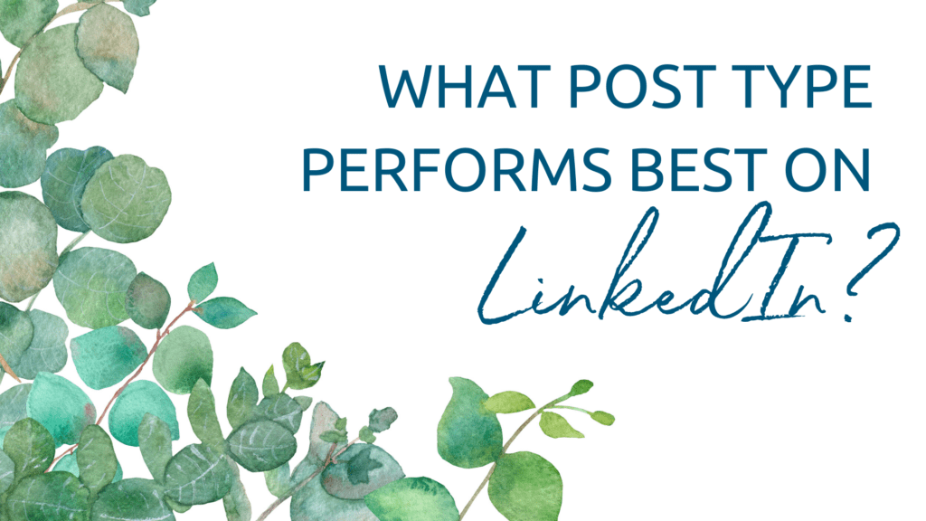 What post type performs best on LinkedIn?